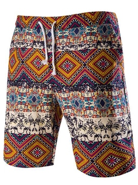 Ericdress Vintage Printed Loose Casual Men's Shorts