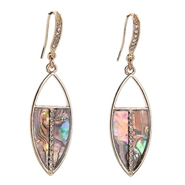 Retro Dazzle Colour Gemstone Pendant Earrings