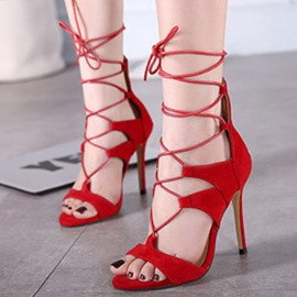 Ericdress Sexy Cut Out Cross Strap Stiletto Sandals