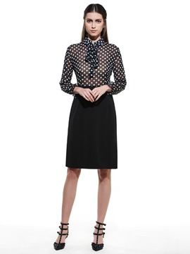 Ericdress Polka Dots Patchwork OL Sheath Dress