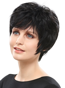 Ericdress Graceful Hand Tied Super Natural Short Straight 4 Inches Wig