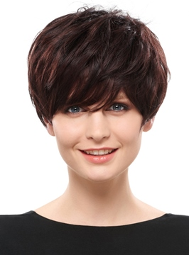 Ericdress Beautiful Unique Hairstyle Short Straight Synthetic Hair Wig