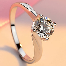 Ericdress Elegant Round Cut Zircon All Matched Ring