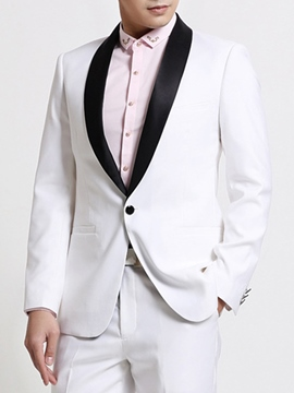 Ericdress Color Block One Button Vogue Slim Men's Suit
