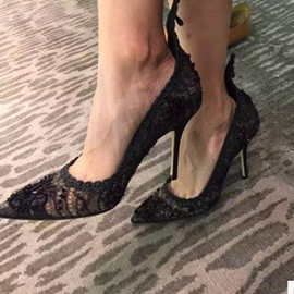 Ericdress Sexy Lace Point Toe Pumps