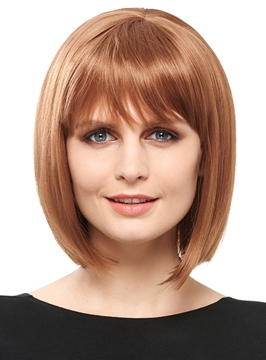 Ericdress Medium Straight Bob Synthetic Hair Capless Wigs
