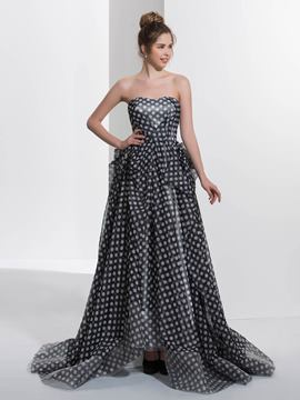 Ericdress A-Line Sweetheart Pick-Ups Printed Sweep Train Prom Dress