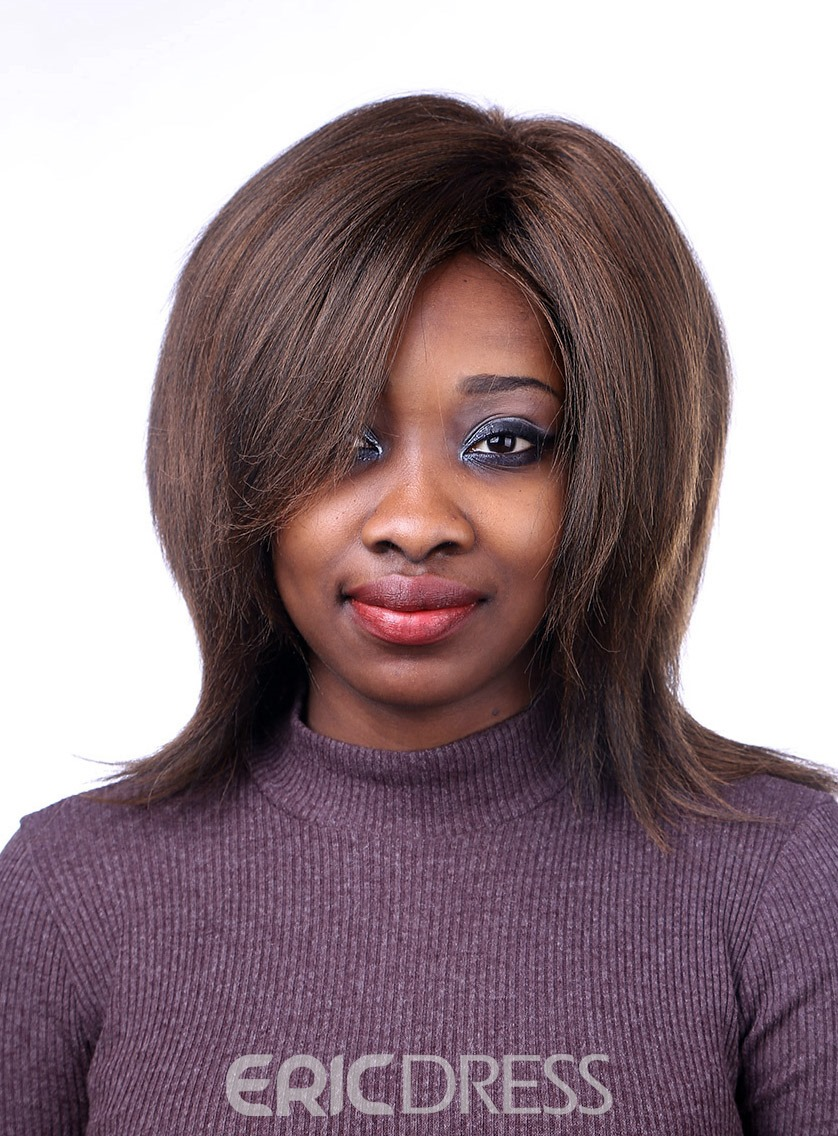 Ericdress Medium Straight Capless Synthetic Hair Wig 14 Inches