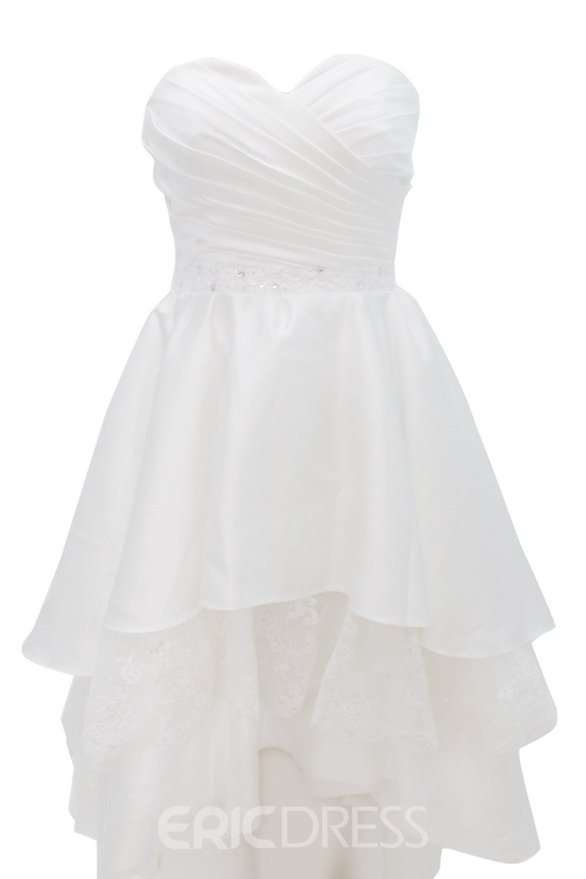Ericdress Sweetheart Lace A-Line Asymmetry Hall Wedding Dress