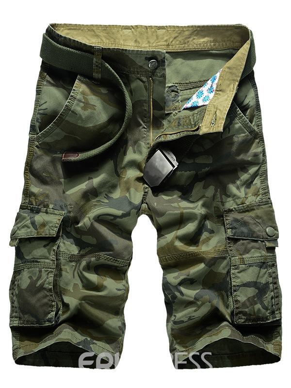 Ericdress Camouflage Pocket Loose Casual Men's Shorts