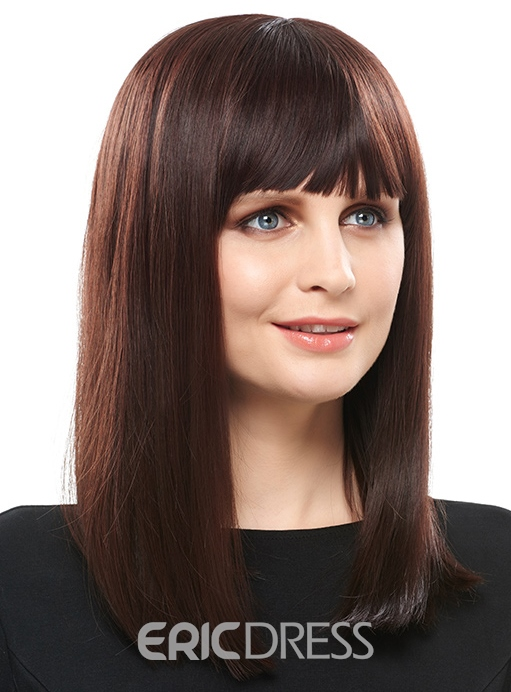 Ericdress Hot Sale Top Quality Long Straight Hair Capless Wig 16 Inches