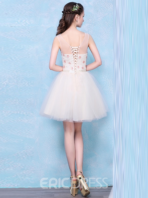 Ericdress A-Line V-Neck Lace Short Homecoming Dress