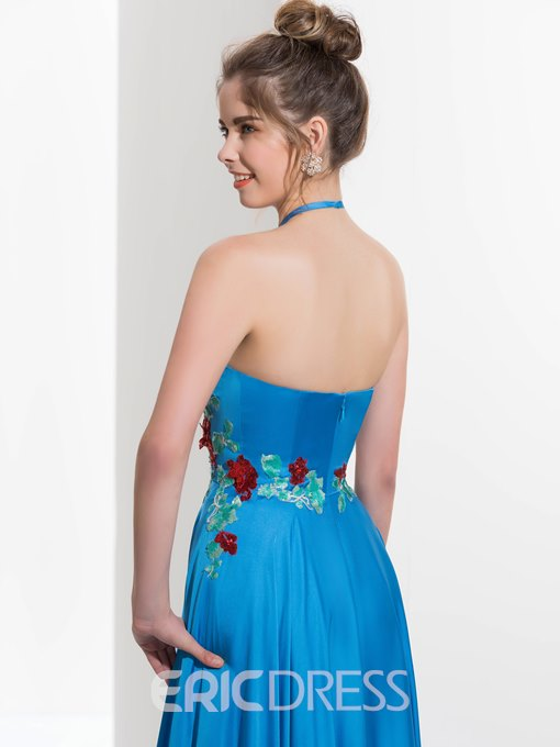 Ericdress Hater Appliques Royal Blue Prom Dress