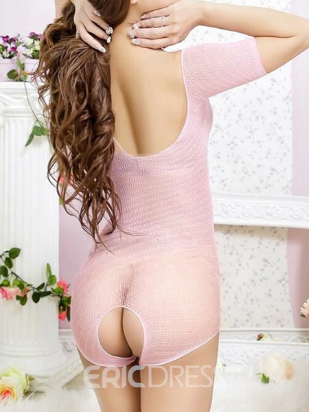 Ericdress Bodysuit Open Crotch Hollow One Shoulder Sexy Teddy Bodysuit