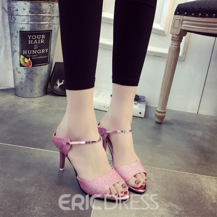 Ericdress Sexy Sequins Ankle Strap Mules Shoes