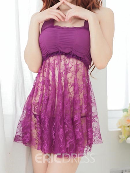 Ericdress Lace See-Through Sexy Halt Babydoll
