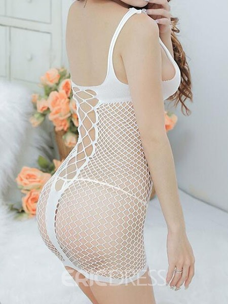 Ericdress Fish Net Hollow See-Through Sexy Chemise