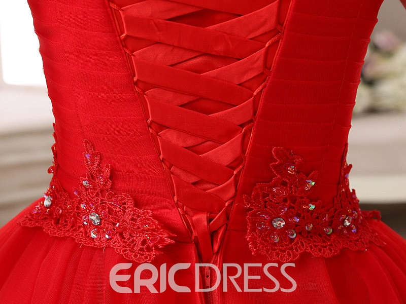 Ericdress A-Line Scoop Beading Lace Pleats Short Homecoming Dress