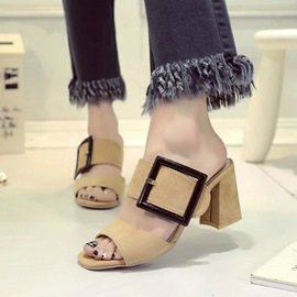 Ericdress Classic Buckles Chunky Sandals