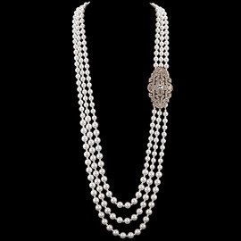 Manual Multilayer Long Pearl Necklace