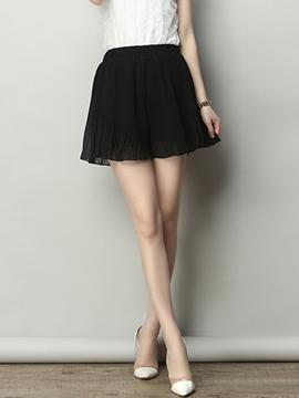 Ericdress Fashion Pleated Frill Shorts