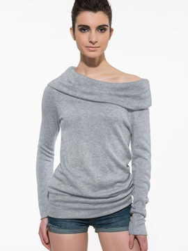 Ericdress Elegant Slash Neck Sweater