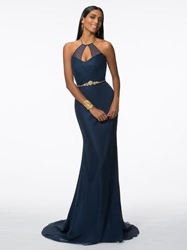 Ericdress Halter Beading Mermaid Evening Dress