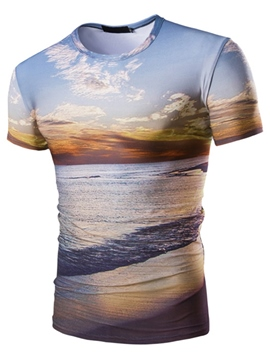 Ericdress Short Sleeve 3D Printed Men's T-Shirt