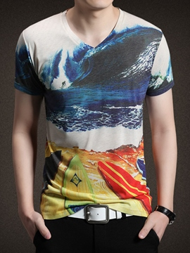 Ericdress Print Vogue Casual Men's T-Shirt