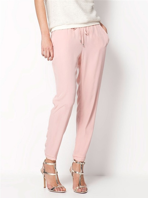 Ericdress Solid Color Pencil Plain Pants