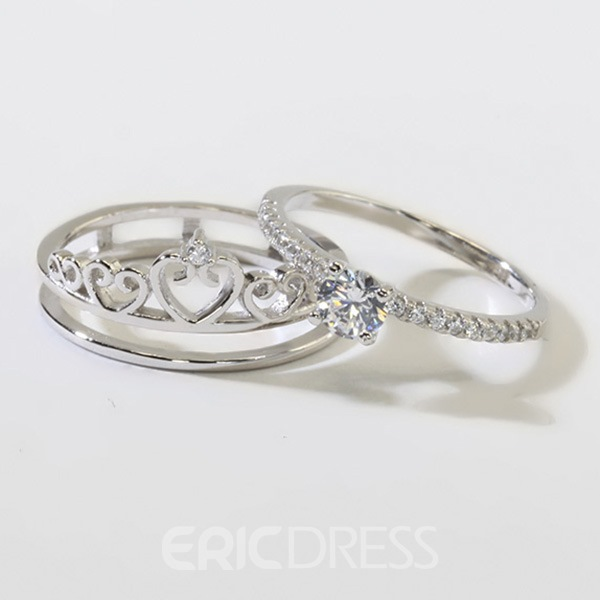 Image of 925 Silver Princess Crown Ring