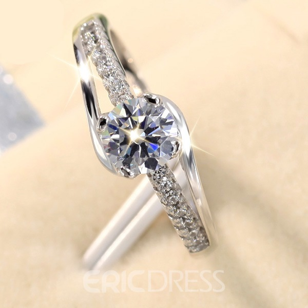 Image of 925 Silver Zircon Ring