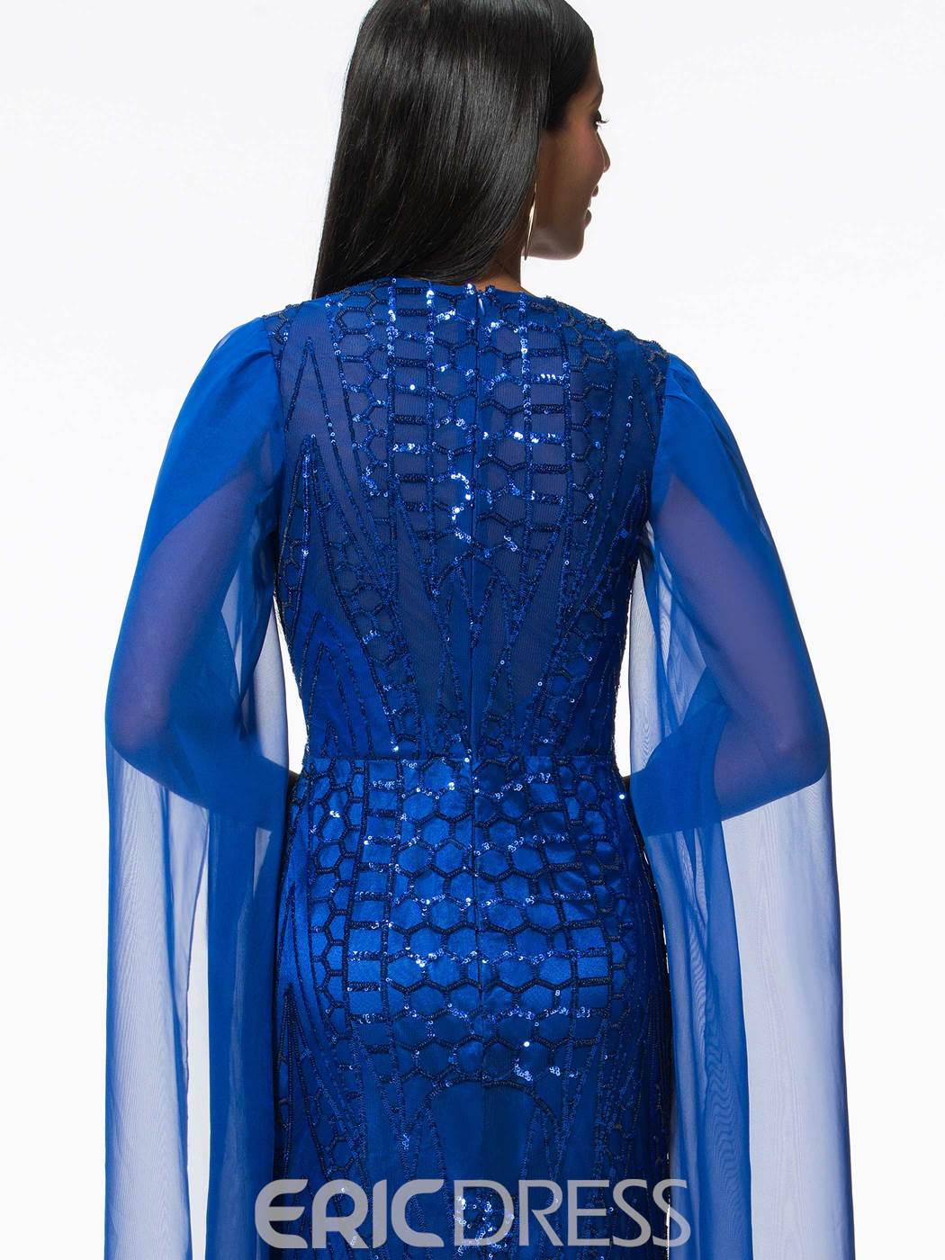 Ericdress Sheath Sequins Evening Dress with Long Sleeves