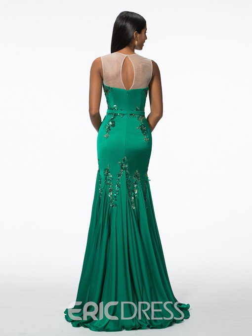 Ericdress Straps Sequins Mermaid Evening Dress