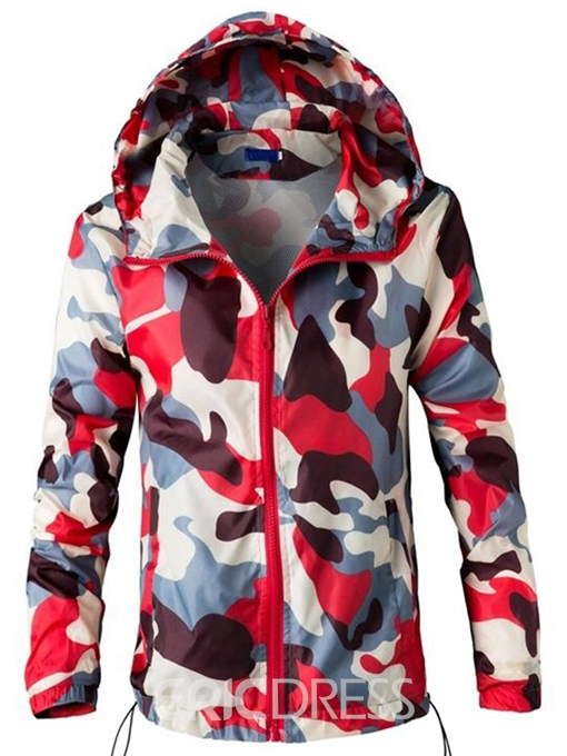 Ericdress Camouflage Casual Zip Sun Protection Men's Jacket