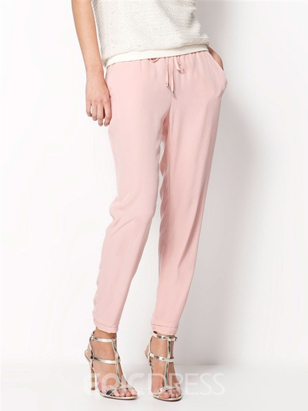 Ericdress Solid Color Pencile Pants