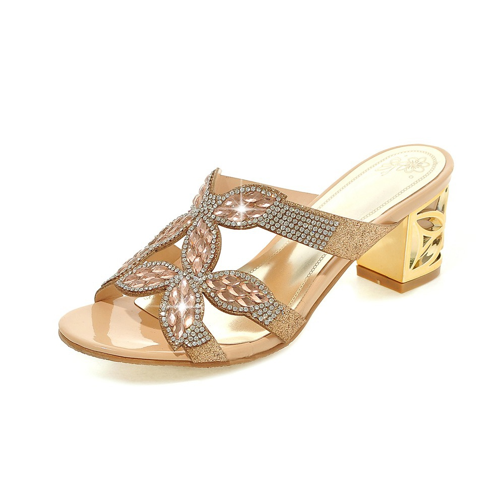 Ericdress Princess Glittering Rhinestone Mules Shoes