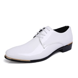 Ericdress Deliate Patent Leather Lace up Men's Oxfords