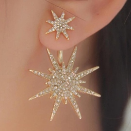 Ericdress Shining Snowflake Earring for Women(for one)