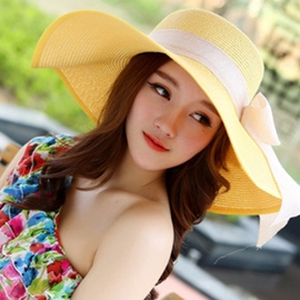 Ericdress Foldable Crocheted Straw Sunhat