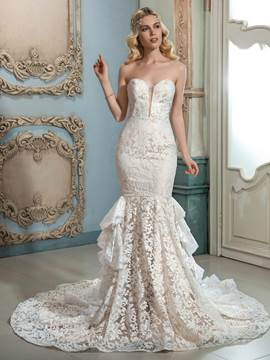 Ericdress Amazing Sweetheart Mermaid Lace Wedding Dress