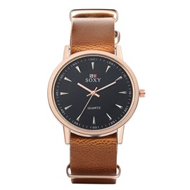 Ericdress Simple Black Men's Quartz Watch