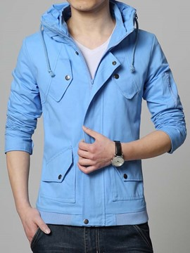 Ericdress Plain Slim Casual Men's Jacket
