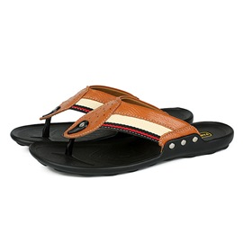 Ericdress Contrast Color Clip Toe Men's Sandals