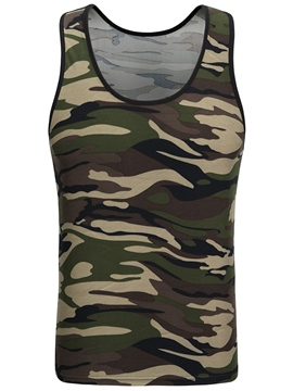 Ericdress Camouflage Print Round Neck Casual Men's Vest