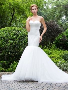 Ericdress High Quality Tulle Sweetheart Mermaid Wedding Dress