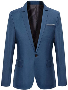 Ericdress Solid Color Vogue One Button Slim Men's Blazer