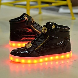 Ericdress Round Toe Solid Color Cross Strap Men's LED Shoes