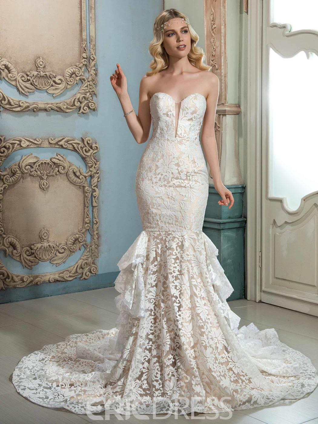 Ericdress Amazing Sweetheart Mermaid Lace Wedding Dress 12162085 ...