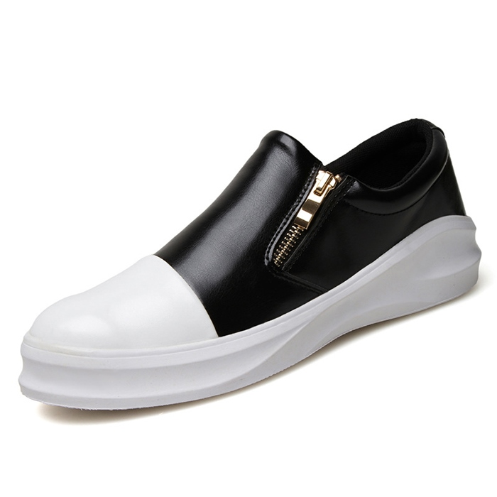 Ericdress Side Zipper Round Toe Flat Heel Men's Loafers